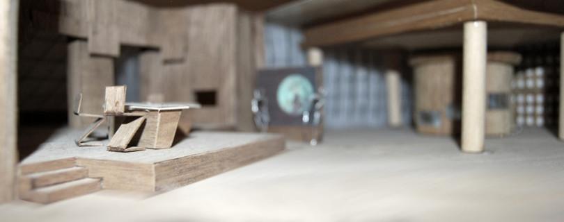 Informativos Antena3 TV 1997 - construida en maderas, maquetas de madera, Enrique Fernandez, orion12,