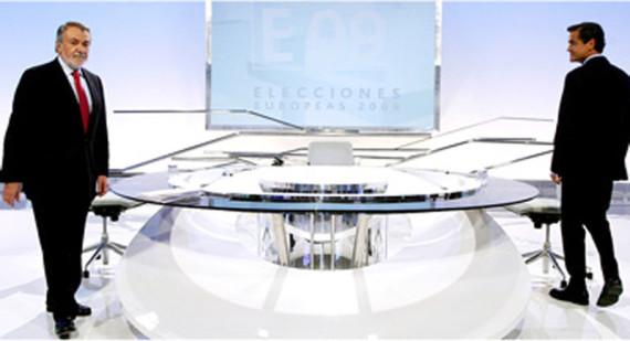 López Aguilar y Mayor Oreja en Antena3 tv, mesa antena3, mesa antena 3, especial elecciones, elecciones antena
