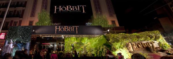 Premiere El Hobbit: Un viaje inesperado, Hobbit presentación,Hobbit presentación, Hobbit presentación Madrid, oriondoce, orion12, Enrique Fernández Calatayud, escenografía Hobbit, Hobbit Gran via