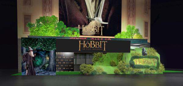 Premiere El Hobbit en el cine Callao, El Hobbit, Decorados El Hobbit, escenografía El Hobbit, Callao El Hobbit, Eventos El Hobbit, Enrique Fernández El Hobbit, Orion 12 El Hobbit, Orion doce El Hobbit