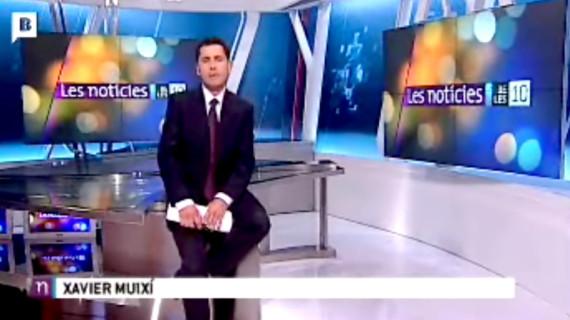 BTV Les Noticies con Xavier Muixí, Enrique Fernández Calatayud, Escenógrafo
