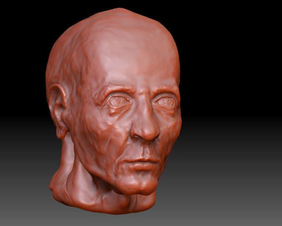 الظاهري الفن, cabeza en zbrush, escultura de Enrique Fernández Calatayud
