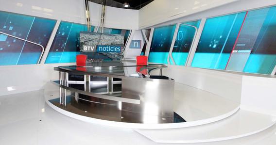 BTV, BTV noticíes, Notícies, Noticias, Enrique Fernández, Informativo, Decorado de televisión, decorado de tv, escenografía